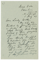 Letter to VW from James Sully 1 July 1909