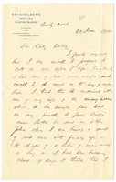 Letter to VW from James Sully 22 June 1910