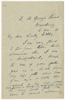 Letter to VW from James Sully 6 November 1910