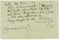 Letter to James Sully from VW 3 December 1911
