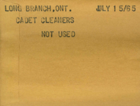 Long Branch, Ont. : Cadet Cleaners [not used]