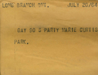 Long Branch, Ont. : Gay 90 S Party Marie Curtis Park