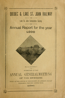 Annual report for the year 1898 submitted at the annual general meeting of shareholders