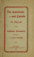 Americans and Canada in 1837-38 : authentic documents