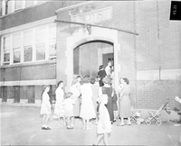 Long Branch, Ont. : School Strike. : Re- Crossing Guard.