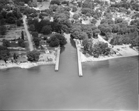 Long Branch, Ont. : Air View of Mouth of the Etobicoke Creek [not used]