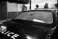 London, Ont. : Bullet Riddled Police Car [not used]