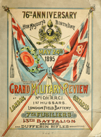 76th anniversary : Her Majesty's birthday, May 24th, 1895 : grand military review at London, Ont