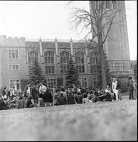 London, Ontario. : University of Western Ont. Marijuana Smoke In [not used] [Sharp negs]