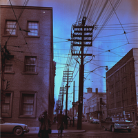 Church and Front streets : overhead wires