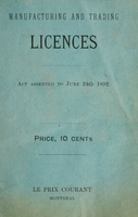 Manufacturing and trading licences | licences industrielles et commerciales