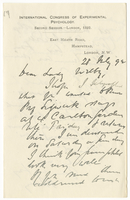 Letter to VW from James Sully 28 July 1892