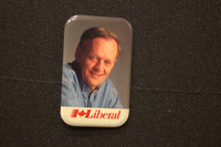 Jean Chretien in jeans button