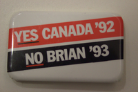 Yes Canada '92 no Brian '93 button