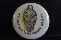 International Black Women's Congress button