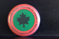 National Black Coalition of Canada button