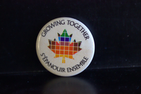Growing together button