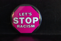 Let's stop racism button
