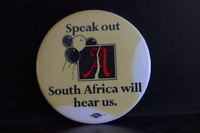 Speak out South Africa will hear us button