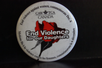 End violence for our daughters button