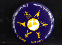 March 8 International Women's Day button