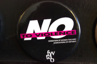 No to violence button