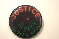 Justice for Albert Johnson button