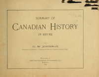 Summary of Canadian history in rhyme