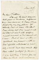 Letter to VW from Edward Stuart Talbot 12 March 1876