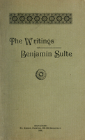 The writings of Benjamin Sulte