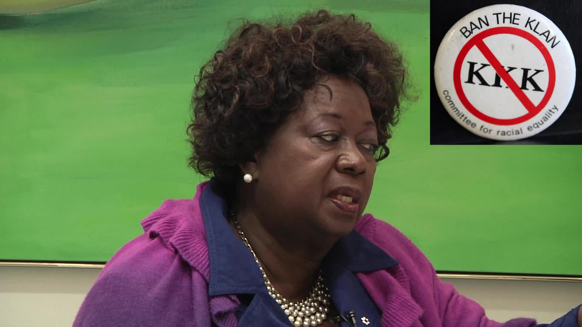 Jean Augustine interview: Ban the KKK button