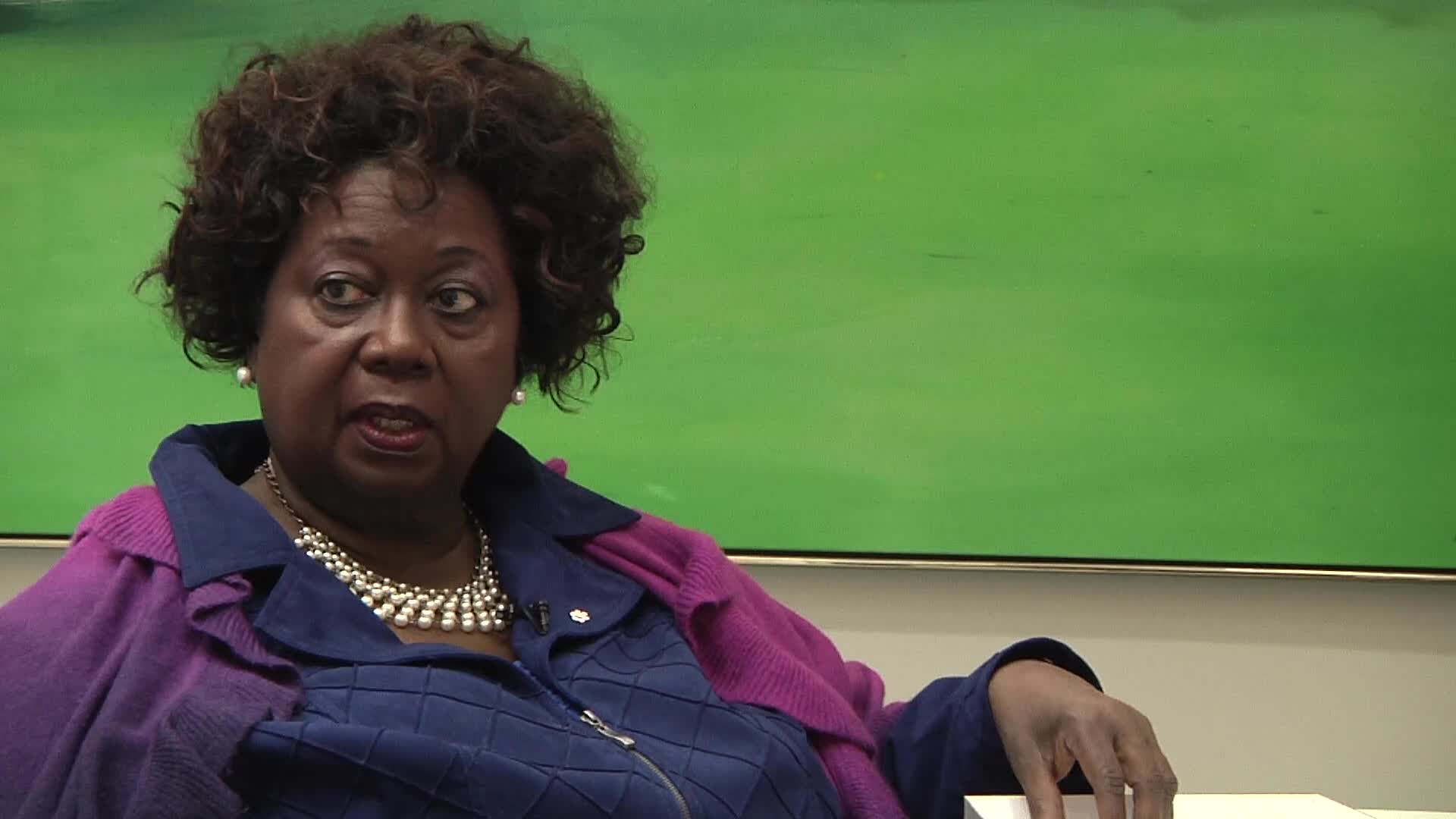 Jean Augustine interview: Bread and Roses in the 80s button