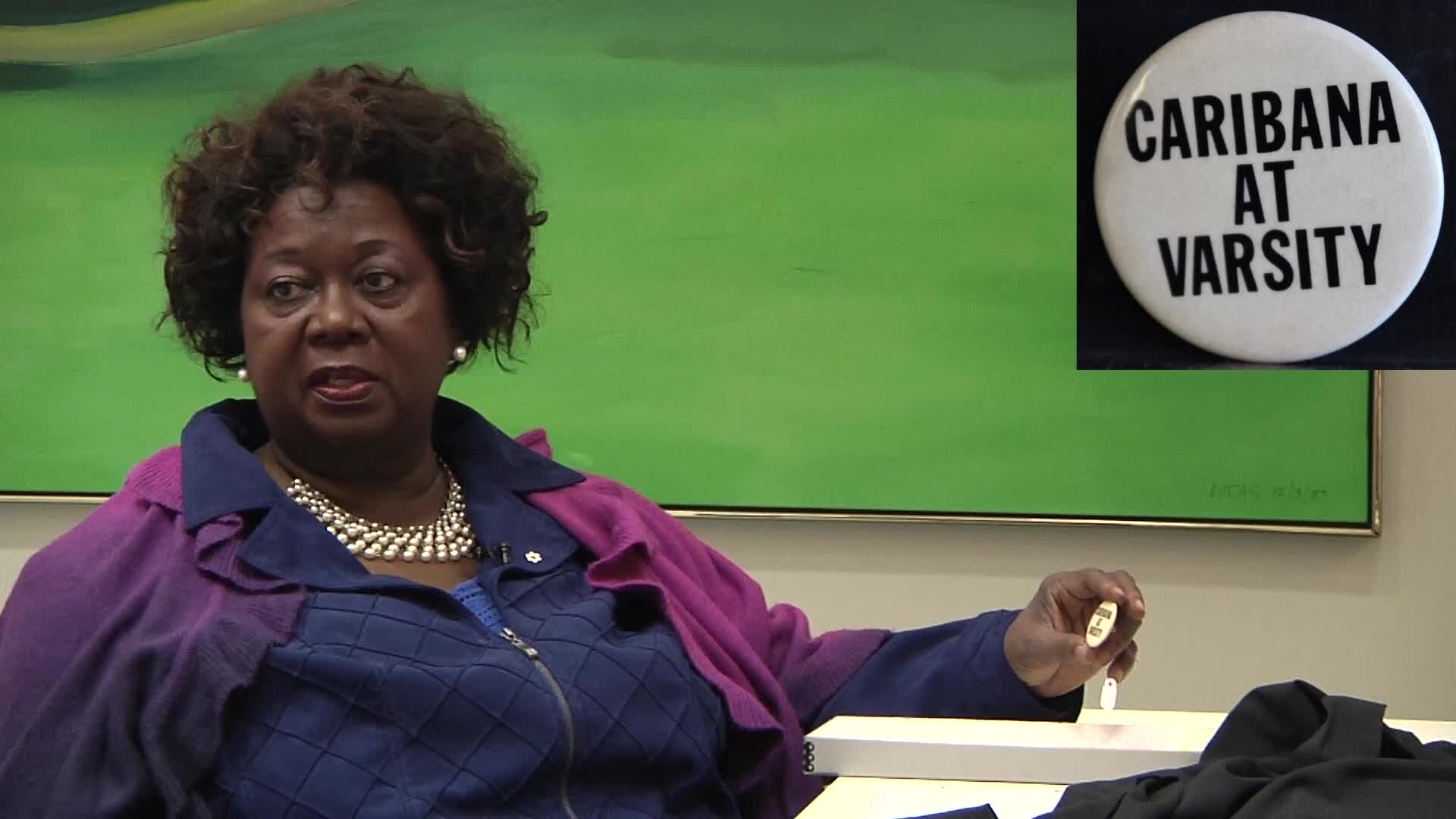 Jean Augustine interview: Caribana at Varsity button