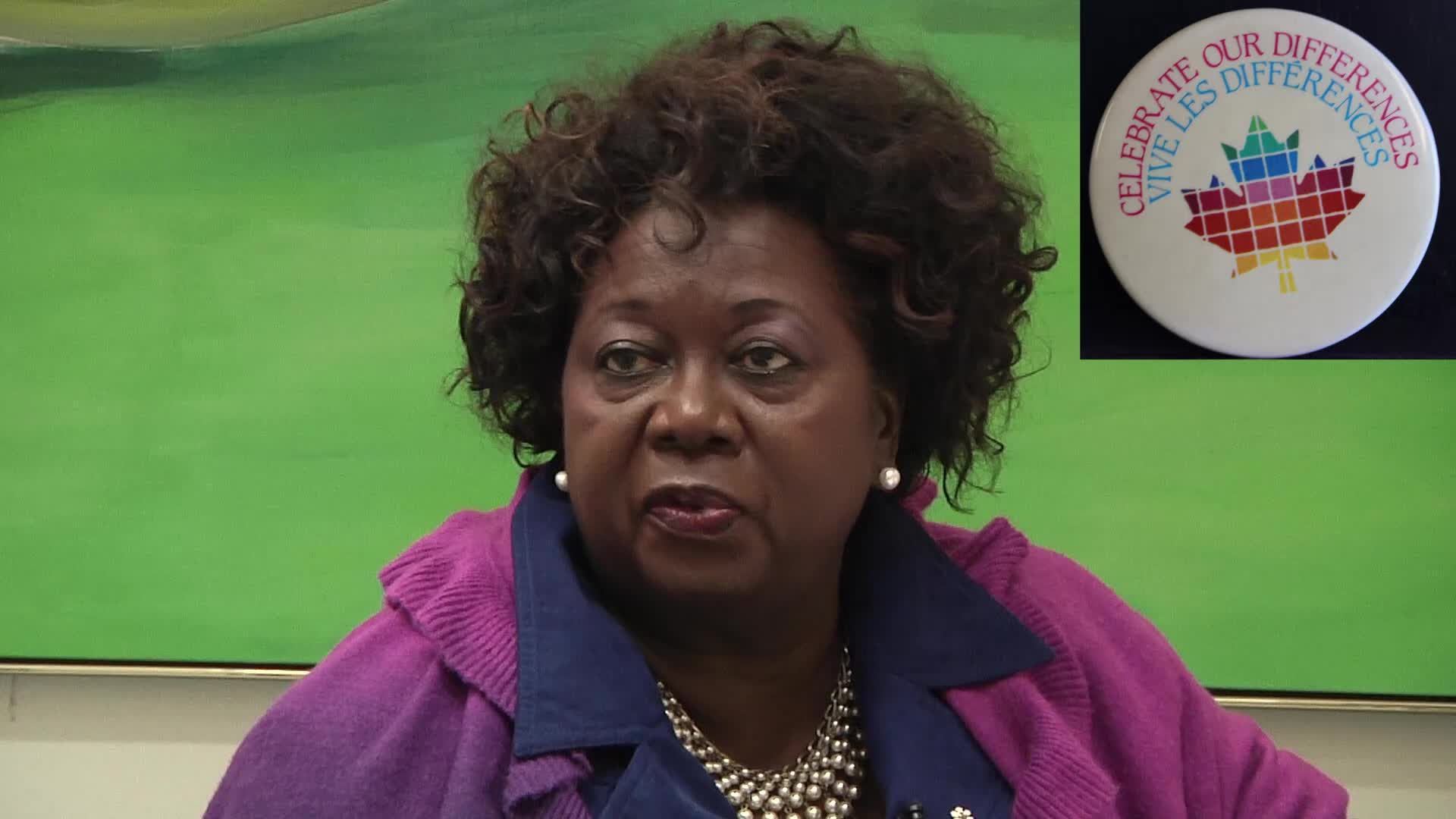 Jean Augustine interview: Celebrate our Differences button