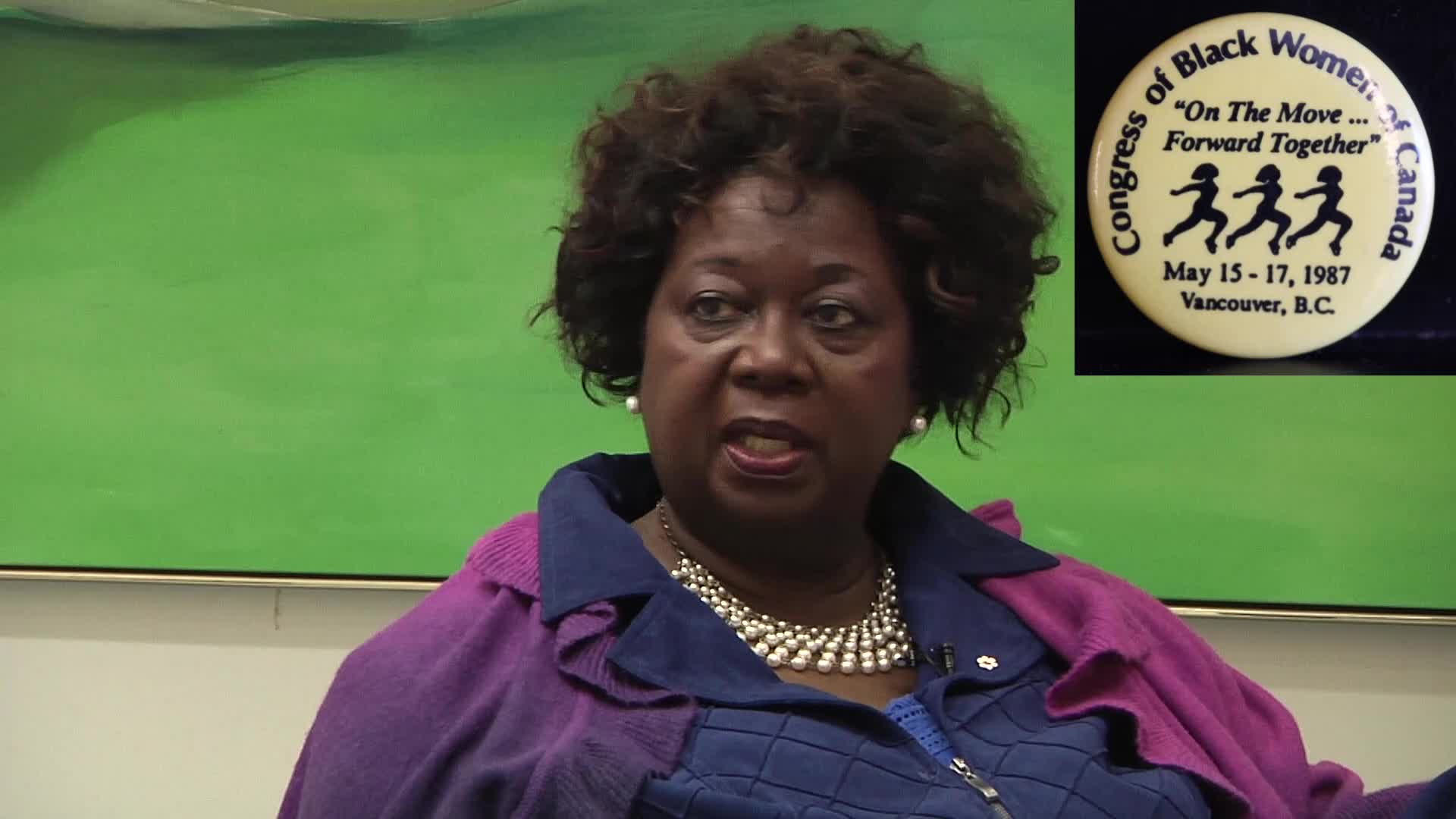 Jean Augustine interview: On the move forward conference button