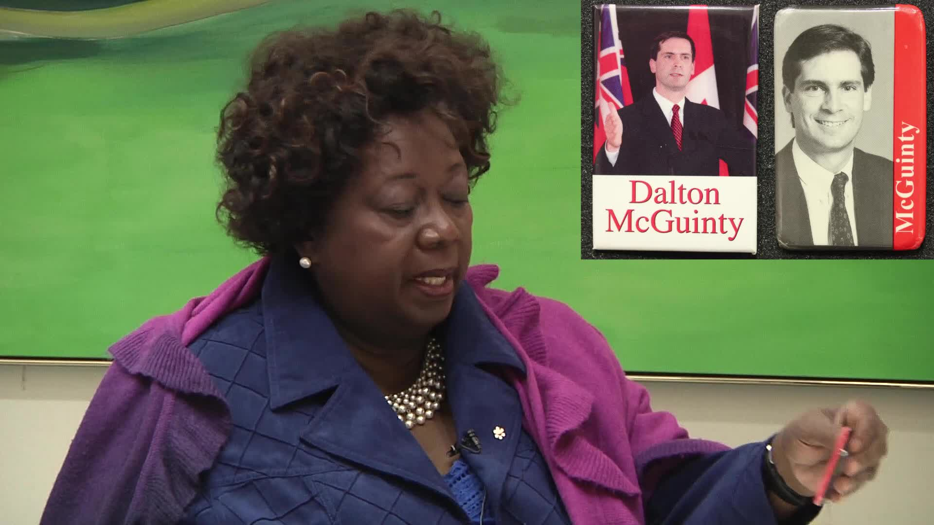 Jean Augustine interview: Dalton McGuinty leadership buttons