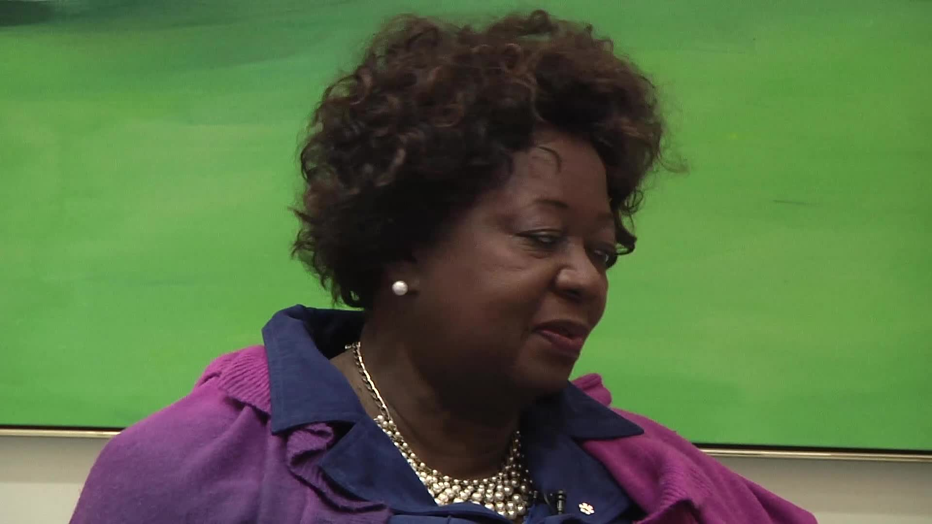 Jean Augustine interview: Jamaican-Canadian Association button