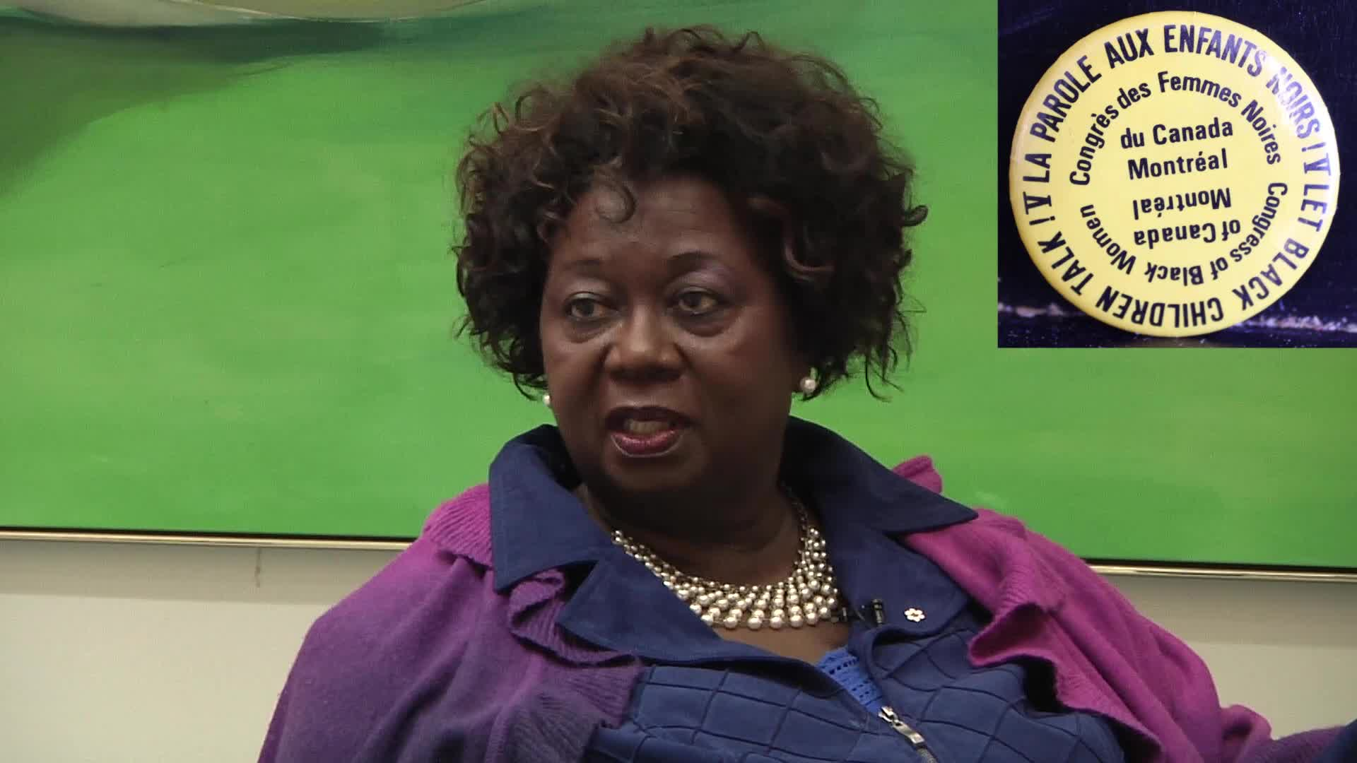 Jean Augustine interview: Let Black Children Talk conference button