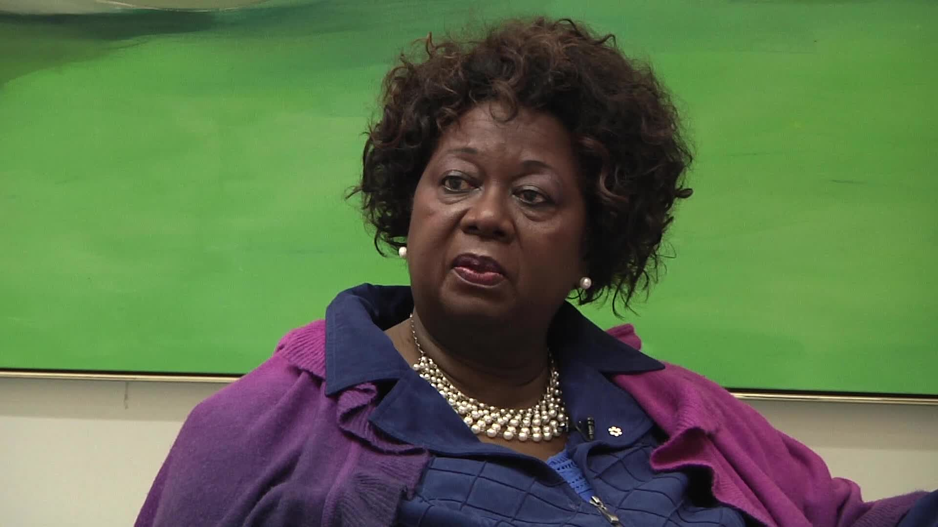 Jean Augustine interview: National Black Coalition of Canada button cont'd