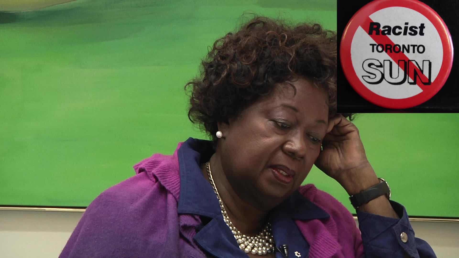Jean Augustine interview: Racist Toronto Sun button