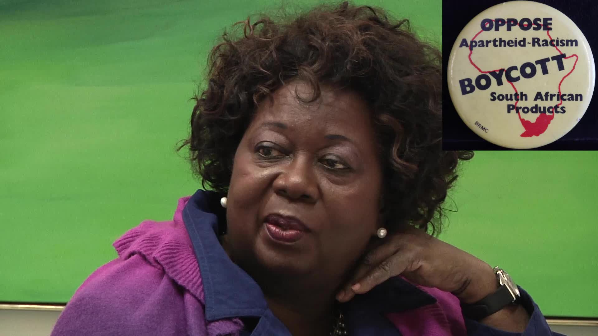 Jean Augustine interview: Anti-apartheid buttons
