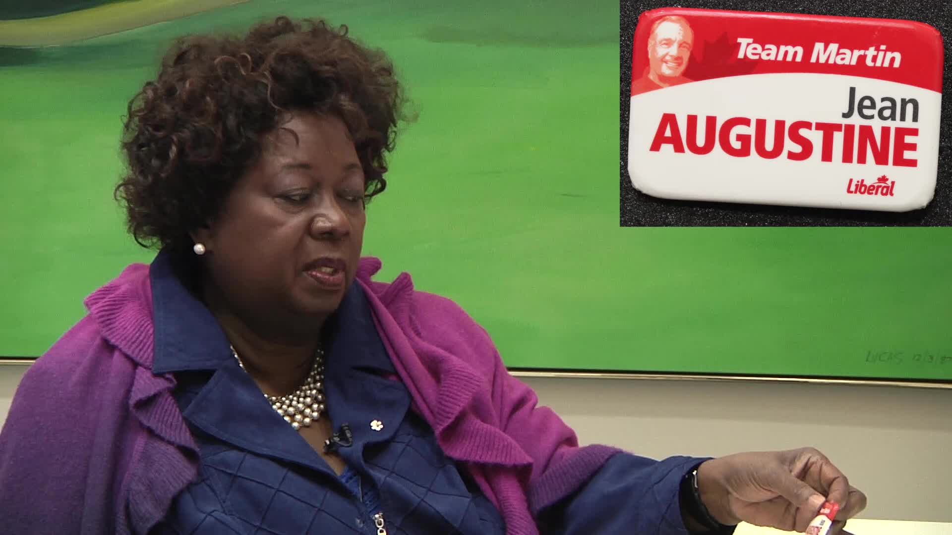 Jean Augustine interview: Team Martin Jean Augustine button