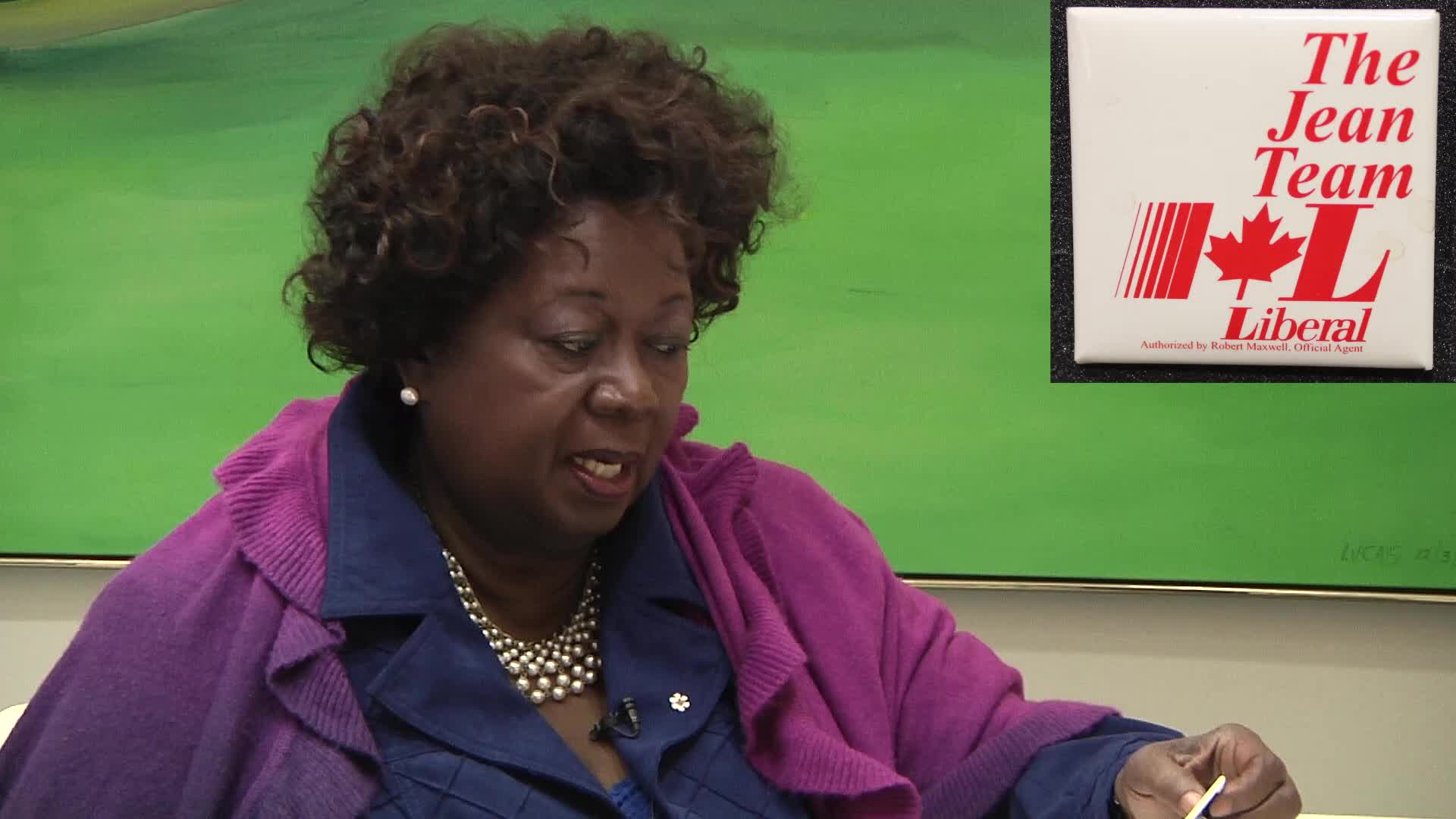 Jean Augustine interview: The Jean Team button