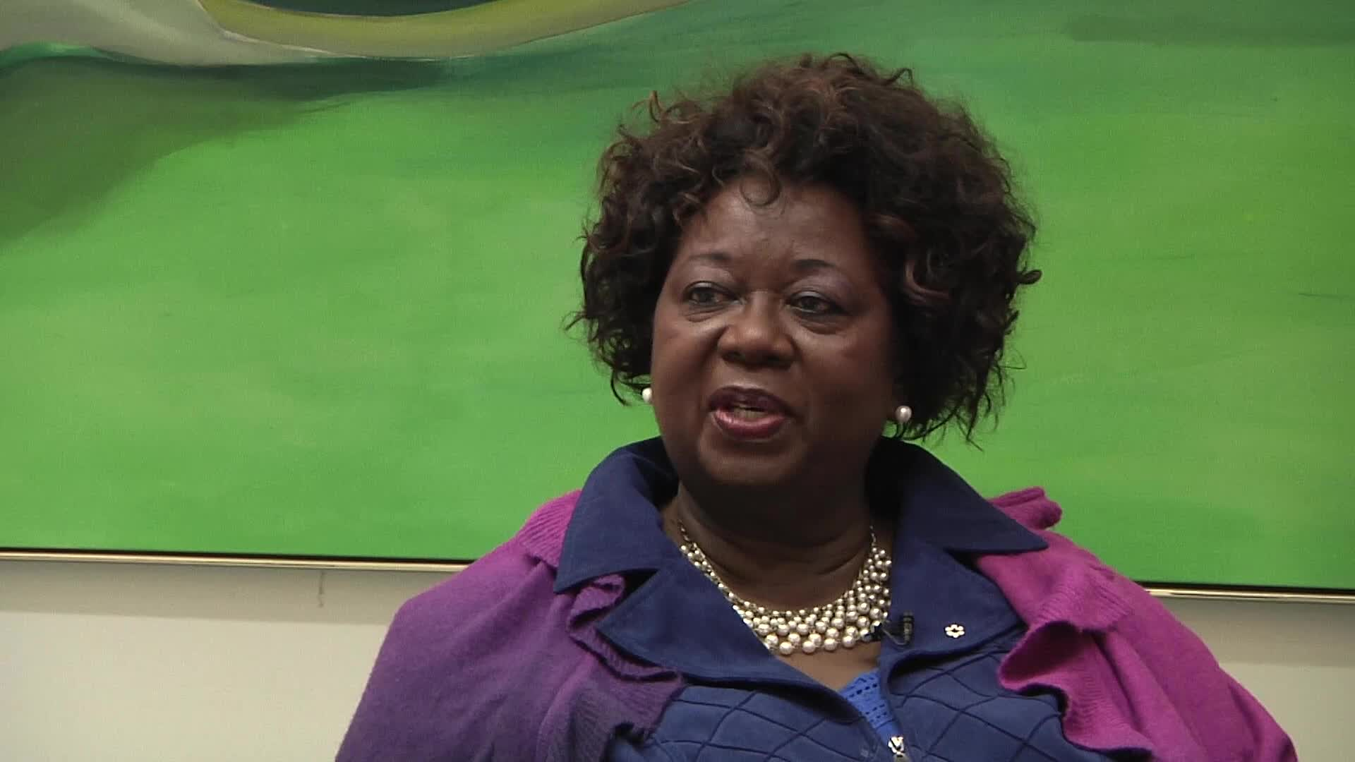 Jean Augustine interview: Jean throws buttons in corner