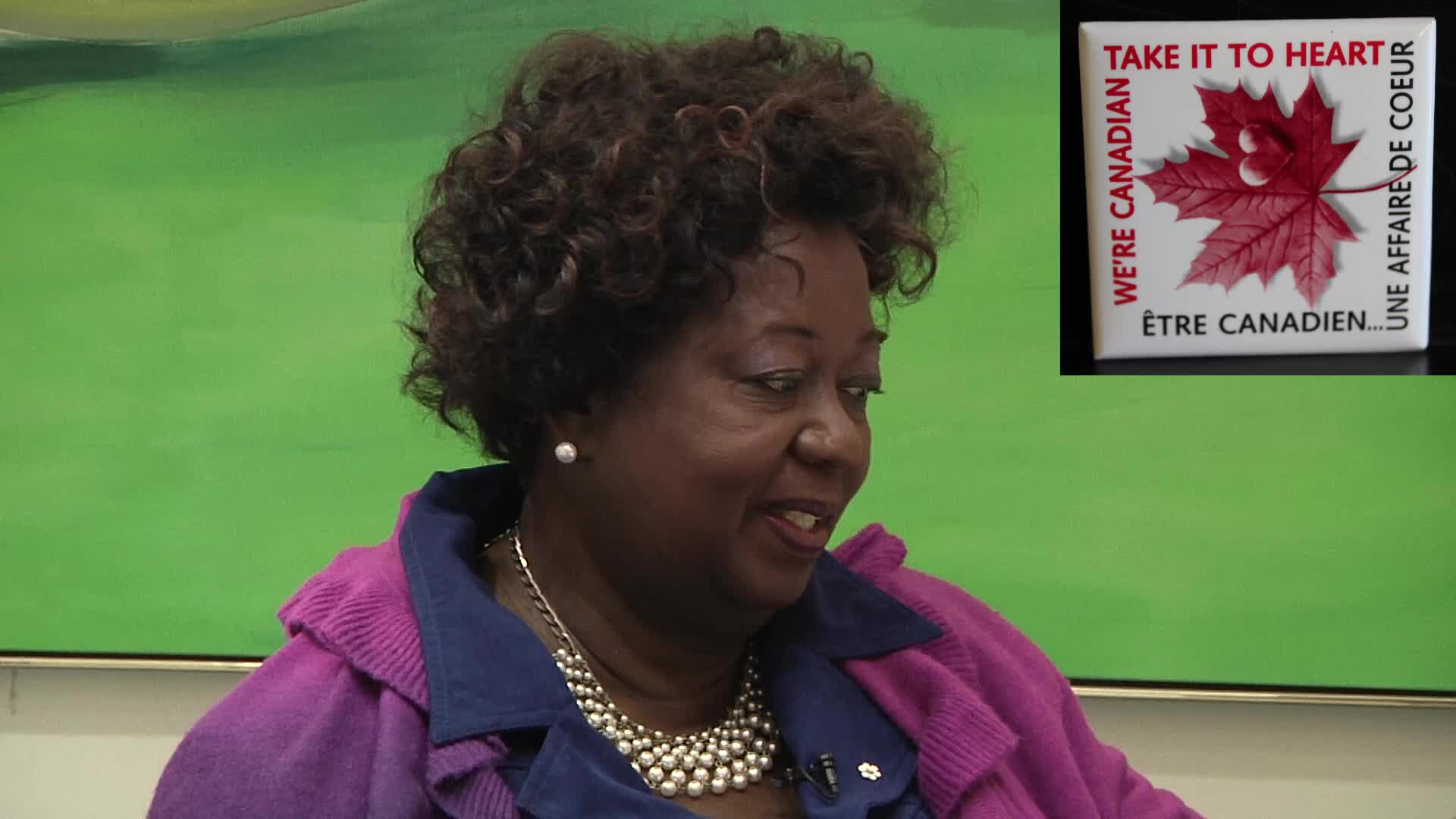 Jean Augustine interview: We're Canadian take it to heart button