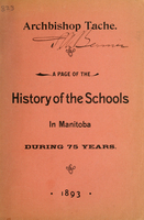 A page of the history of the schools in Manitoba during 75 years