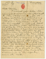 Letter to Mrs. Stepler from Gordon Stepler, March 28th 1916