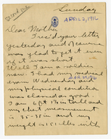 Letter to Mrs. Stepler from Gordon Stepler, April 2nd 1916
