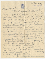 Letter to Mrs. Stepler from Gordon Stepler, May 29th 1916