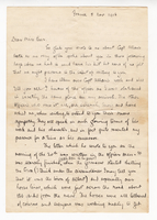 Letter from T.C. McGill to V[ivien] Beer Regarding Death of James Allan, November 5th 1916